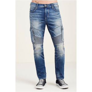 True Religion Men's Relaxed Slim Moto Jeans